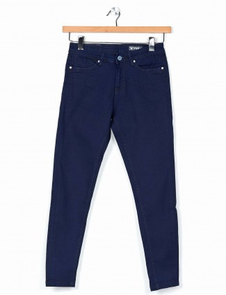 Desi Belle presented solid navy jeans