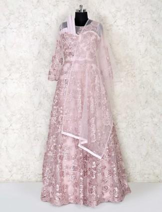 Designer peach gown for women