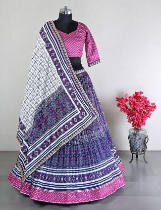 Designer reception wear purple lehenga in silk
