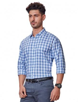 Dragon Hill blue checks mens shirt