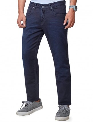 Dragon Hill navy solid mens jeans
