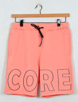 DXI peach printed simple mens shorts