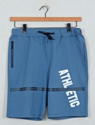 DXI printed blue casual shorts
