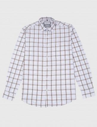 Easies casual wear white checks shirt