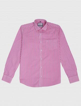 Easies pink hue stripe pattern shirt