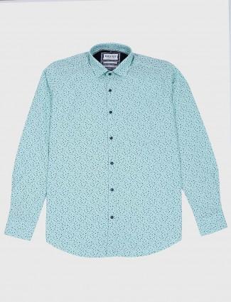 Easies printed sea green colored shirt
