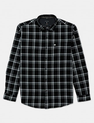 Eqiq black checks patern cotton shirt