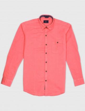 EQIQ bright pink color cotton shirt