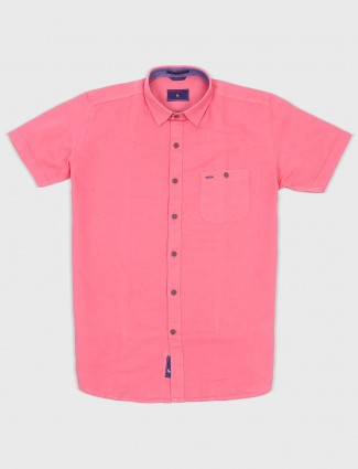 EQIQ plain pink hue shirt