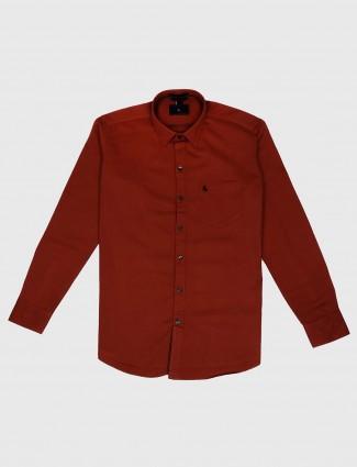 EQIQ red hue casual shirt