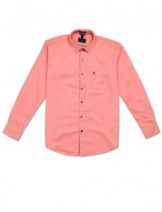 EQIQ simple peach hue shirt