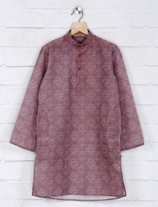 Festive function dusty pink cotton kurta suit