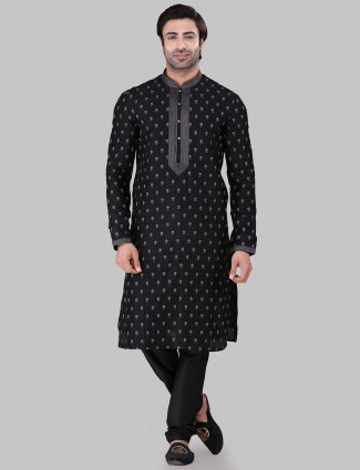 Festive wear black kurta suit