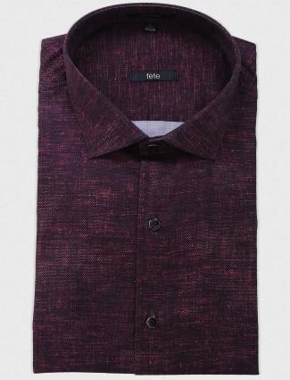 Fete purple solid shirt