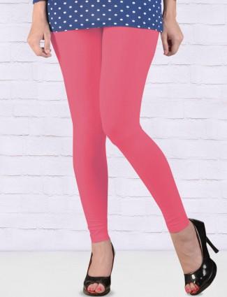 Go Colors dark pink hue ankal length leggings