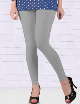 Go Colors grey simple regular ankal length leggings