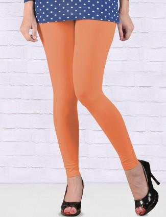 Go Colors Peach hue ankal length leggings
