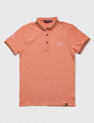 Freeze cotton light peach t-shirt