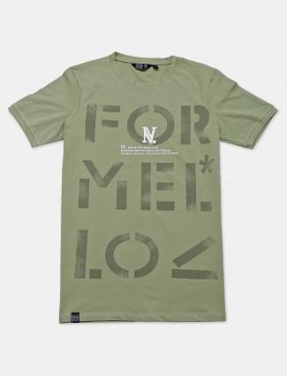 Freeze presented printed green t-shirt