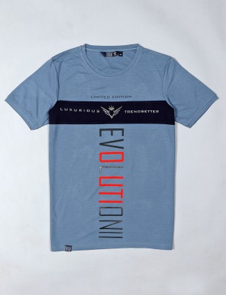 Freeze printed blue t-shirt