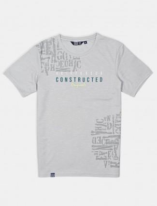 Freeze printed light blue t-shirt