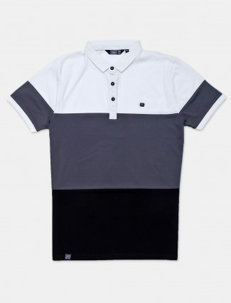Freeze solid casual grey polo t-shirt