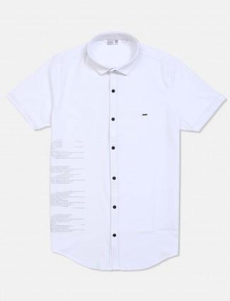 Freeze white printed casual shirt