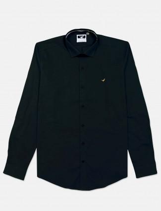 Frio black cotton full sleeve shirt for mens