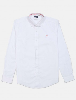 Frio cotton solid white shirt casual wear