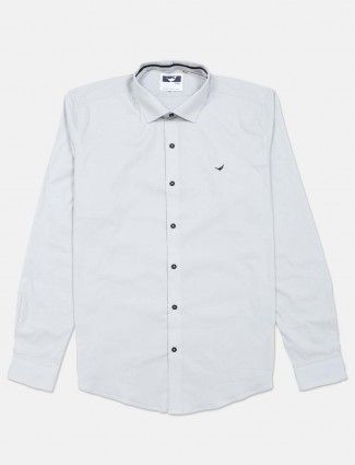 Frio off white cotton solid shirt