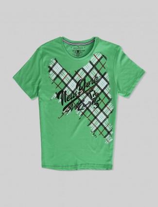 Fritzberg printed green t-shirt