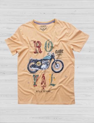 Fritzberg printed peach t-shirt