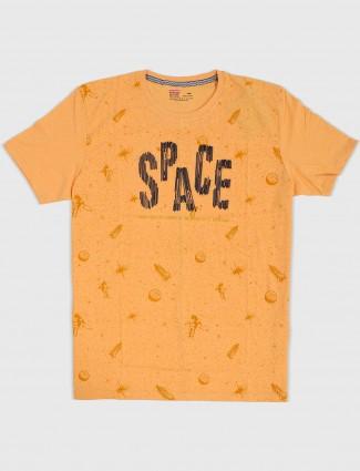 Fritzberg printed yellow t-shirt