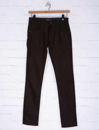 Gesture coffee brown hued jeans