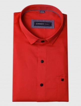 Ginneti bright peach hue shirt