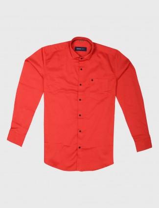 Ginneti bright slim fit red shirt
