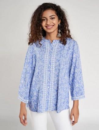 Global Desi blue casual wear western top