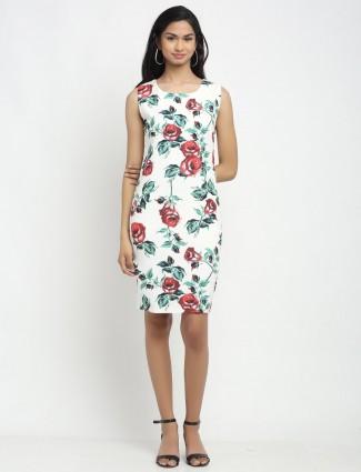 Global Republic printed white dress for women