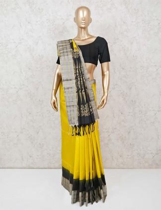 Gold wedding pure silk zari weaving saree