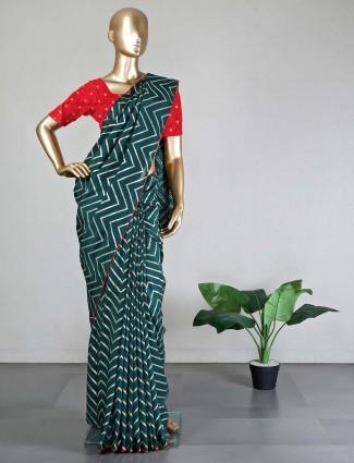 Green dola silk saree for wedding days