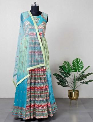 Green floor length wedding salwar suit