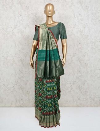 Green patola silk wedding exclusive saree