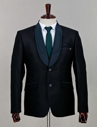 Green terry rayon fabric solid coat suit