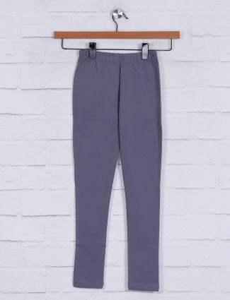 Grey casual wear solid jeggings