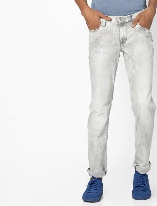 Grey lee solid casual wear denim jeans