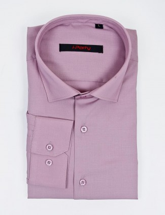 I Party solid violet hue cotton fabric shirt