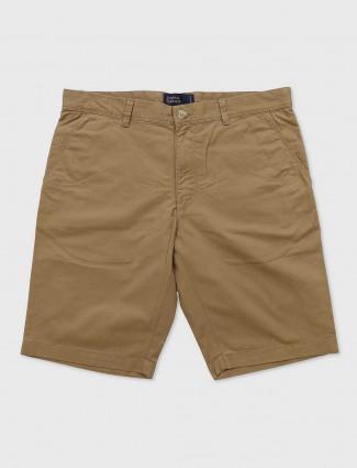 Indian Terrain beige hue mens shorts