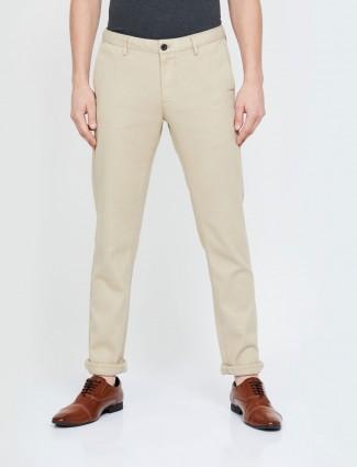 Indian Terrain casual wear cream trouser