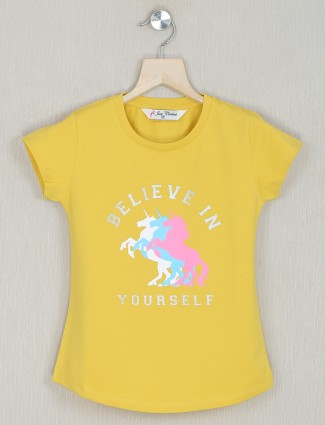 Just cloth yellow shade top for little girls