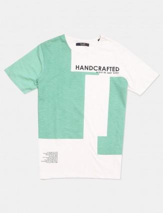 Killer cream printed cotton casual t-shirt